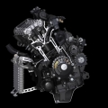 Мотоциклет Yamaha YZF-R1 - цилиндрова глава с висока компресия и олекотени компоненти