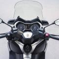 Скутер Yamaha X-MAX 400 2019 - поглед напред от мястото на водача