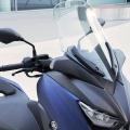Скутер Yamaha X-MAX 400 2019 - аеродинамичен, стилен обтекател плюс регулируема слюда