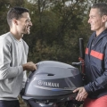 Двигател Yamaha F25GMHS - лекотата при пренасяне идва от ниското тегло и новата, по-удобна дръжка за носене