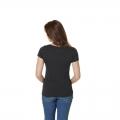 Дамска тениска Faster Sons с дизайн от Roland Sands в антрацитено сиво - гръб