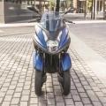 Скутер Yamaha Tricity 155 - разположени близо една до друга предни гуми за компактен размер
