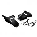 Комплект черни долни предпазни спойлери за картера на мотоциклет Yamaha Tracer 700 и MT-07 - 1WS283R0 - цвят Power Black