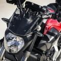 Къса спортна слюда с опушен ефект или черна, за Yamaha MT-07 1WS261C0