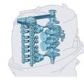 Двигател Yamaha F175CETL DBW - 2.8-литров, 16-клапанов, DOHC двигател