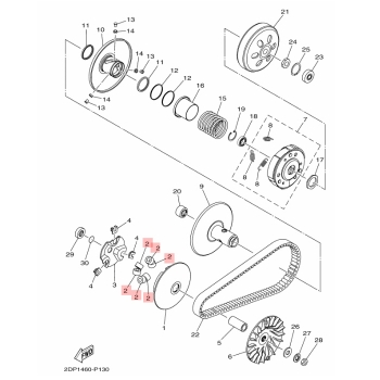 Ролки за вариатор Yamaha 2DPE76320000