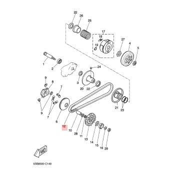 Трансмисионен ремък Yamaha 5RNE76411000