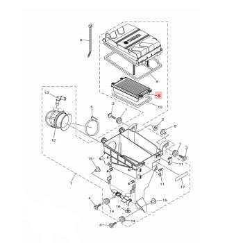 Елемент, въздушен филтър Yamaha - 6EY144510000