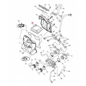 Въздушен филтър Yamaha 4B5144510000