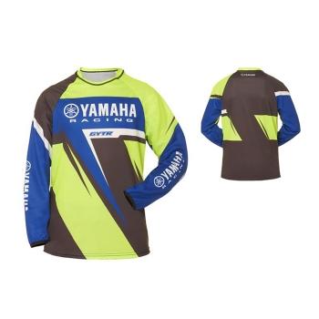 Детска кросова фланелка Yamaha MX Duns Jersey в синьо-зелено - A17GT412G1