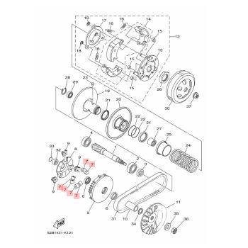 Ролки за вариатор Yamaha 1WCE76320000