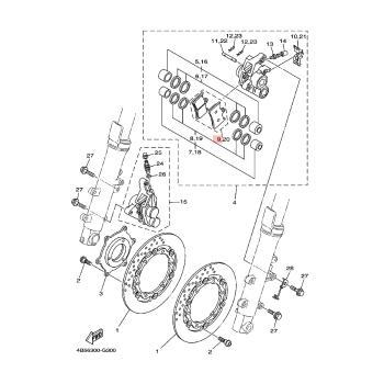 Предни накладки Yamaha 4B5258050000