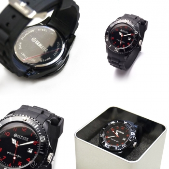 Водоустойчив ръчен часовник Yamaha Black Red 3 atm N12NW30100B7