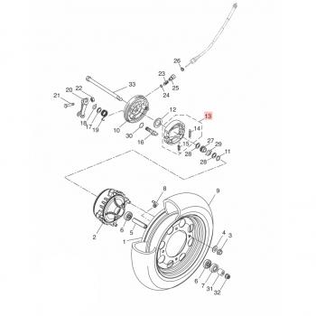Предни накладки за скутери YAMAHA 2DKF510L0000