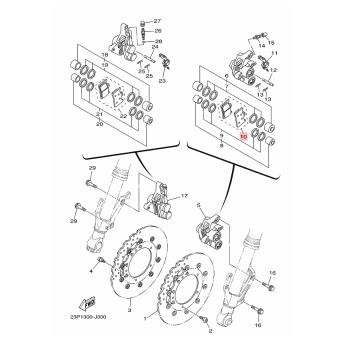 Накладки предни Yamaha 2C0258050000