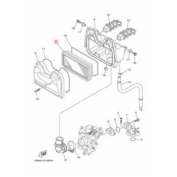 Въздушен филтър Yamaha 4S9E44510100