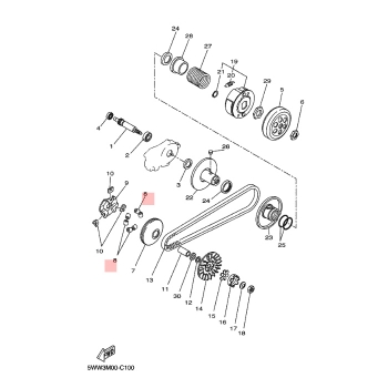 Ролки за вариатор Yamaha 1S0E76320000