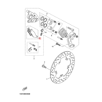 Предни накладки Yamaha 1B9W00450000