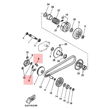 Ролки за вариатор Yamaha 4KHE763200PL
