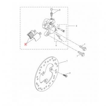 Предни накладки за скутери YAMAHA 1PHF58050000