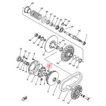 Ролки за вариатор Yamaha 5VU176320000
