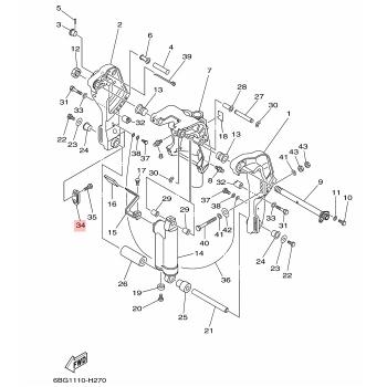 Анод за двигател Yamaha 65W452510000