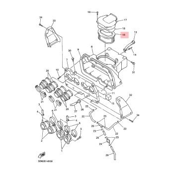 Въздушен филтър Yamaha 4YR144510100