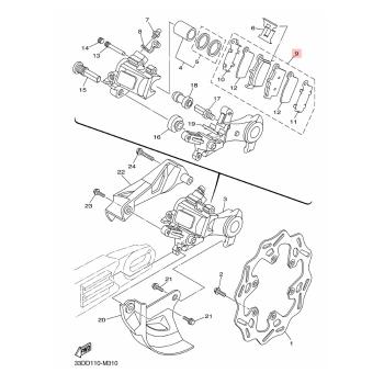 Накладки задни Yamaha 1C3W0046B000