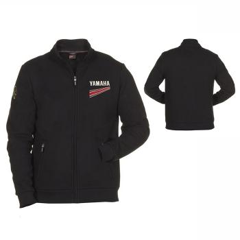 Стилен мъжки пуловер с цял цип и силует тип жилетка Yamaha REVS Rex - B17AJ108B0