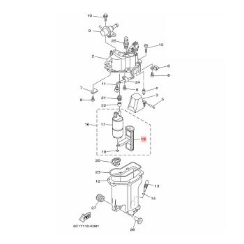 Оригинален горивен HP филтър Yamaha 6C5139150000