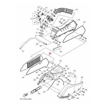 Въздушен филтър Yamaha B74WE4450000