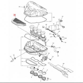 Въздушен филтър Yamaha 2CR144510000