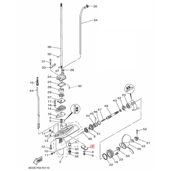 Анод за двигател Yamaha 6L5452510300