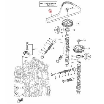 Ангренажен ремък Yamaha 6EKW46240000
