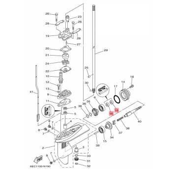 Оригинален маслен семеринг Yamaha 931011380000