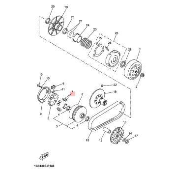 Ролки за вариатор Yamaha 1C0E76321000