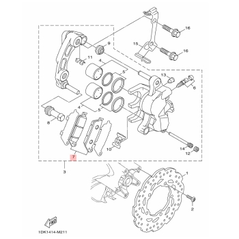 Предни накладки Yamaha 1DKW00450000