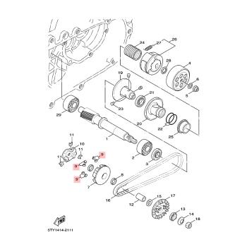 Ролки за вариатор Yamaha 5MLE76320000