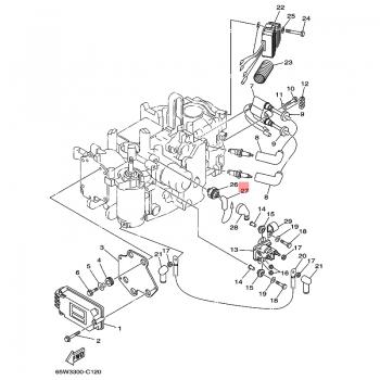 Кабел за датчик масло Yamaha 65W821270000