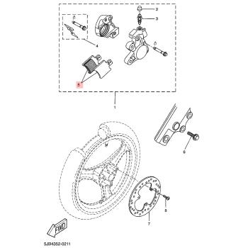 Предни накладки Yamaha 4VVF58110100