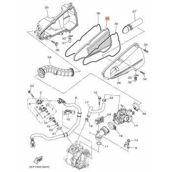 Въздушен филтър Yamaha 1WCE44500000