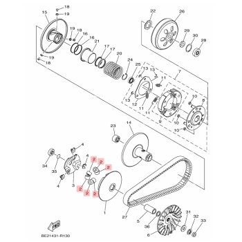 Ролки за вариатор Yamaha BR7E76320000