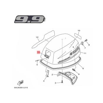 Стикер Yamaha 9.9 6AU426772000