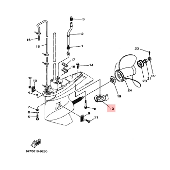 Анод за двигател Yamaha 67F453710000
