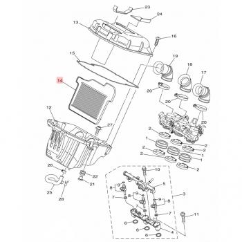 Оригинален въздушен филтър Yamaha 1RC144510000