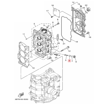 Анод за двигател Yamaha 6G8113250000