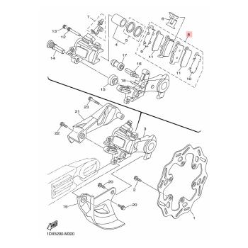 Накладки задни Yamaha 5UNW00466000