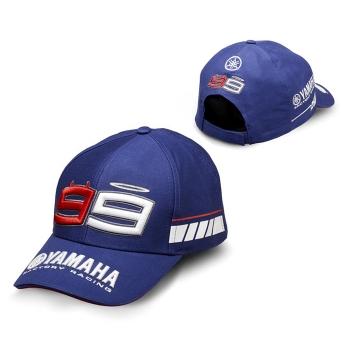 Шапка с двойно лого на Yamaha и Lorenzo от рейсинговата линия за 2016 N16JH300E800