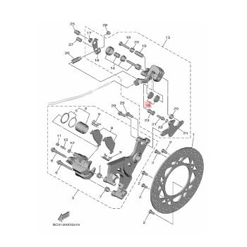 Задни накладки Yamaha 59C258055000