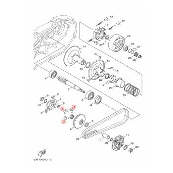 Ролки за вариатор Yamaha 52SE76320000